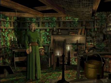 Als Du Die Hexenküche Betrittst, Umgibt Dich Eine Vielfalt Von Düften Und  Aromen. In Der Mitte Des Raumes Blubbert Ein Riesiger Kessel, ...